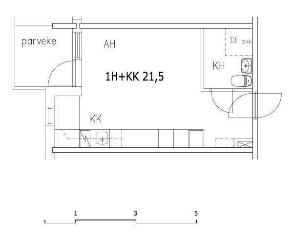 1h+kk 21,5 m2