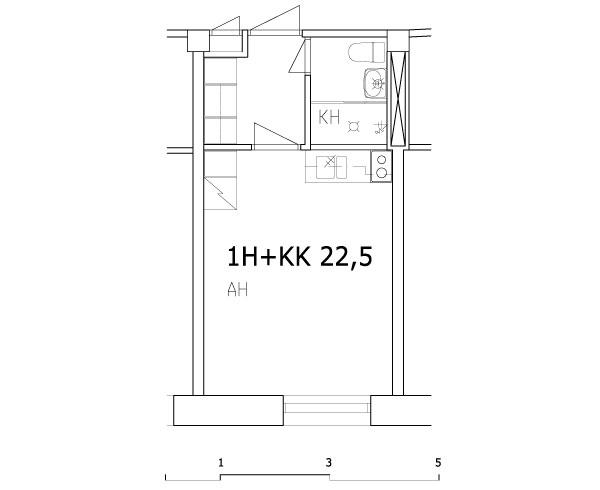 1h+kk 22,5 m2