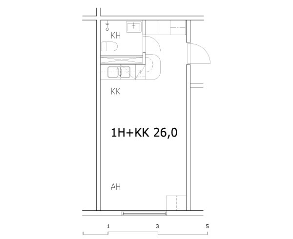 1h+kk 26,0 m2