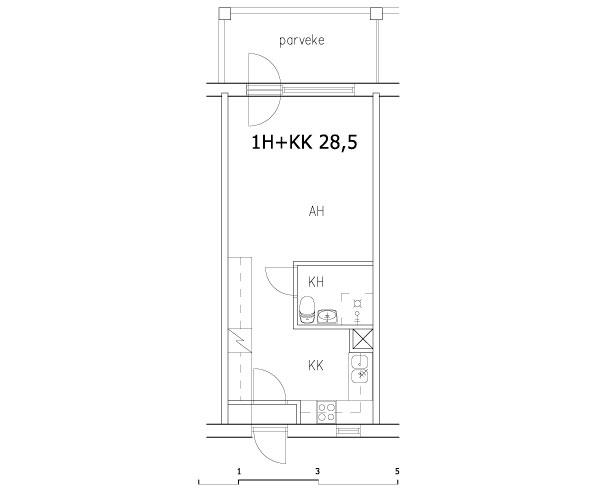 1h+kk 28,5 m2