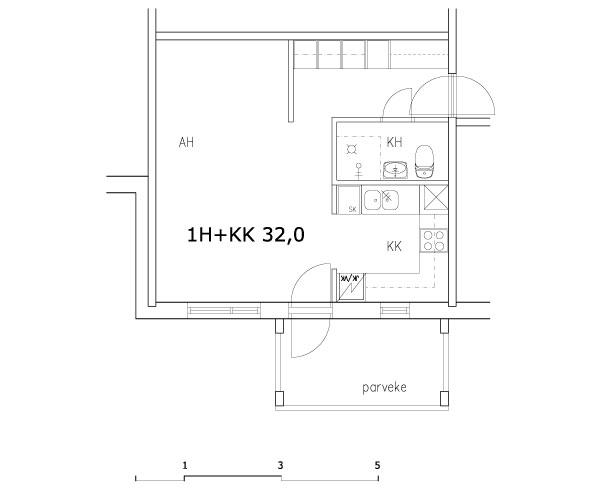 1h+kk 32,0 m2