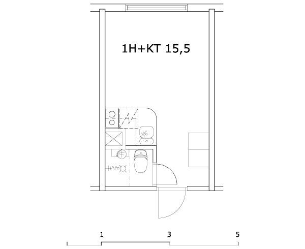 1h+kt 15,5 m2