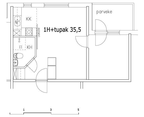 1h+tupak 35,5 m2