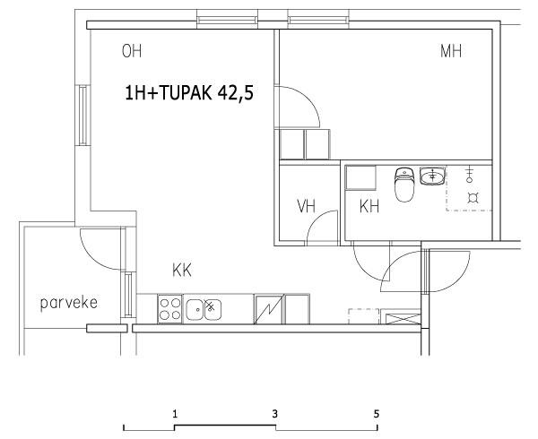1h+tupak 42,5 m2