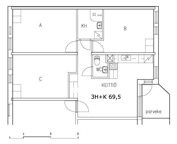 3h+k 69,5 m2