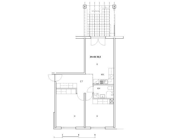 3h+kk 59,5 m2