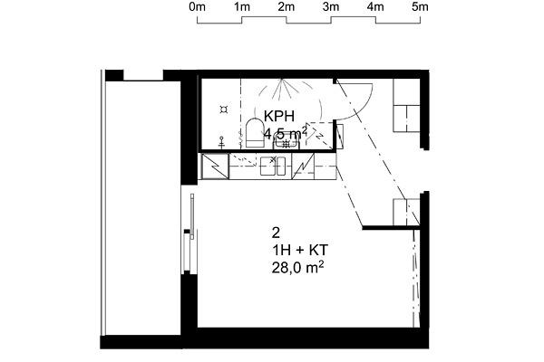 Suvikuja 8 -pohjapiirros 28 m2