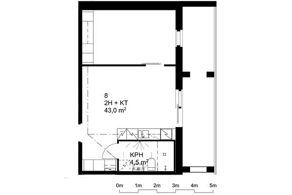 Suvikuja 8 -pohjapiirros 43 m2